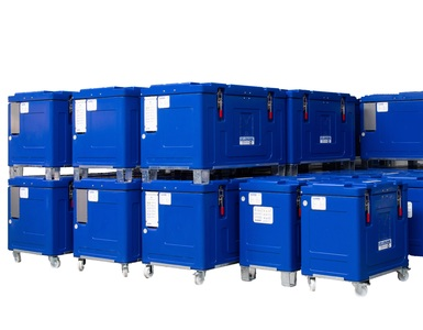 contenedores de hielo para transportar
